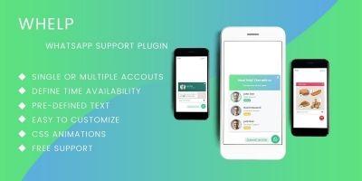 Whelp - JQuery WhatsApp Help Chat Plugin