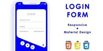 Modern Login Form JavaScript