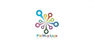 Pin Map Logo