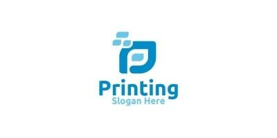 Letter P Printing Company Logo Design