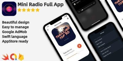 Radio Mini - Full iOS Application