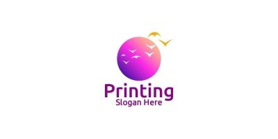 Beauty Printing Company Logo Design