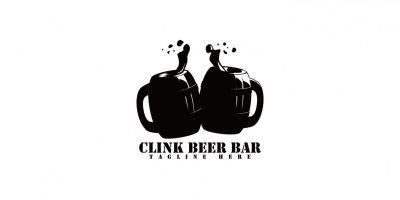 Clink Beer Bar Logo Template