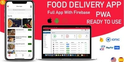 Food Delivery App - Ionic 5 With Firebase