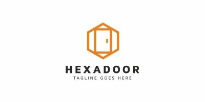 Hexagon Door Logo
