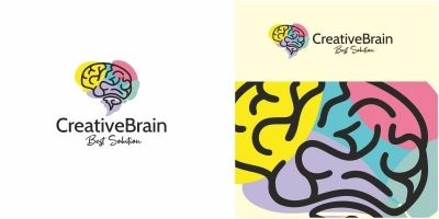 Creative Brain Logo