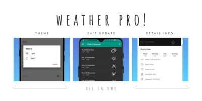 Weather Pro - Weather App Android Source Code