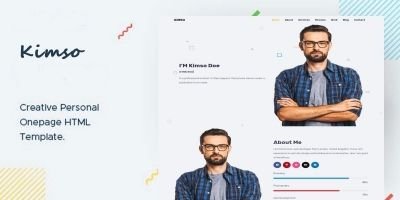 Kimso- Creative Personal Onepage HTML Template