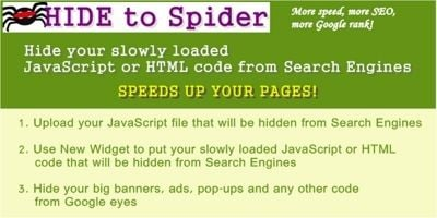 Hide To Spider WordPress plugin
