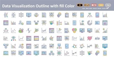 Data Visualization Vector icons
