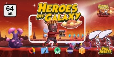 Heroes Off Galaxy  64 bit - Buildbox Template