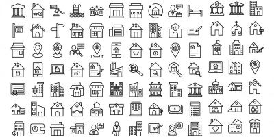 Real Estate Line Vector Icon