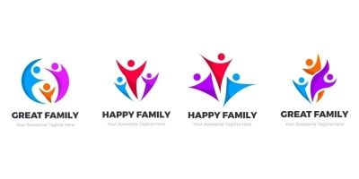 Family Logos Collections Pack of 4 Logos