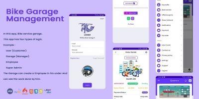 Bike Garage - Bike Service Management Software PHP