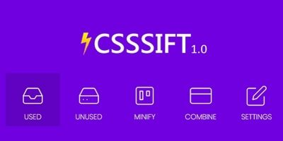 CSSSIFT - Unused Static CSS Remover