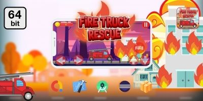 Truck Fire Rescue 64 bit -Buildbox Template