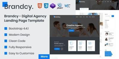 Brandcy - Digital Agency Landing Page Template