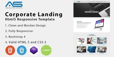 Abussayed - Corporate HTML5 Landing Page