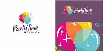 Balloon Party Time Logo
