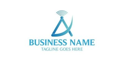 A Letter 4G Network Logo