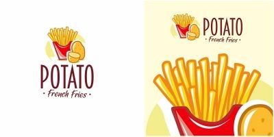 Potato French Fries Logo