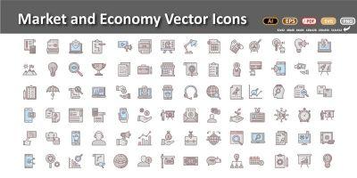 Market and Economics Vector icons