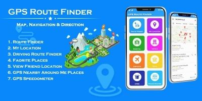 GPS Route Finder and Navigation - Android App