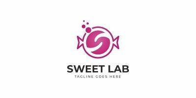 Letter S Sweet Lab Logo