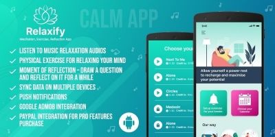 Relaxify - Meditation Android App Source Code