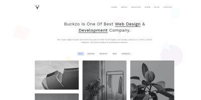 Buckzo - Minimal HTML5 Template