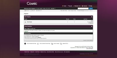 Cosmic - MyBB Theme