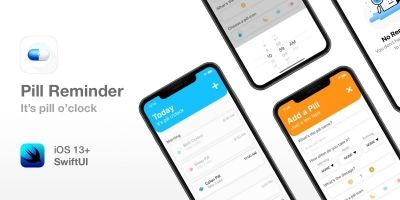 Pill Reminder - Full SwiftUI App For iOS