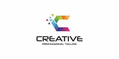 Creative C Letter Colorful Logo