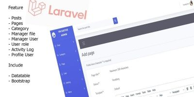 Vn Native Admin - Laravel New CMS