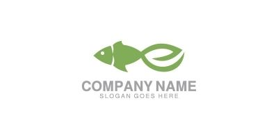 Eco Fish Logo Template