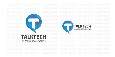 Talk Tech Letter T Logo