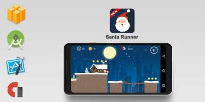 Santa Runner -  Buildbox Template