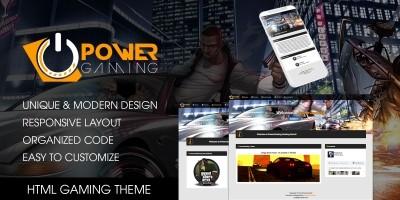 PowerGaming - Gaming HTML Theme