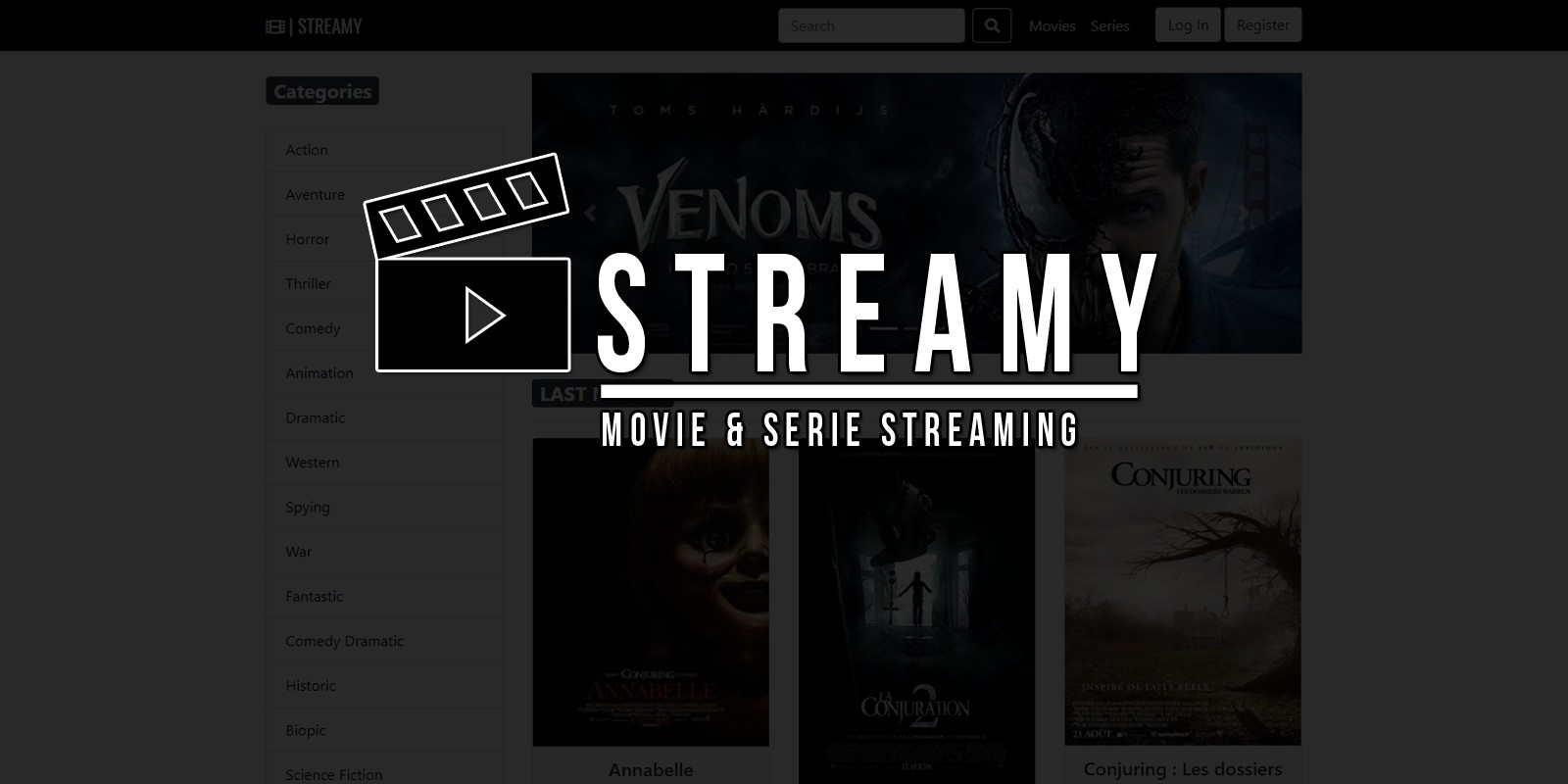 Streamy - Movies And Series Streaming Platform PHP