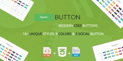 Queen button - A Modern CSS3 Buttons Collection
