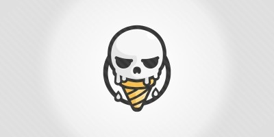 Skull Ice Cream Logo