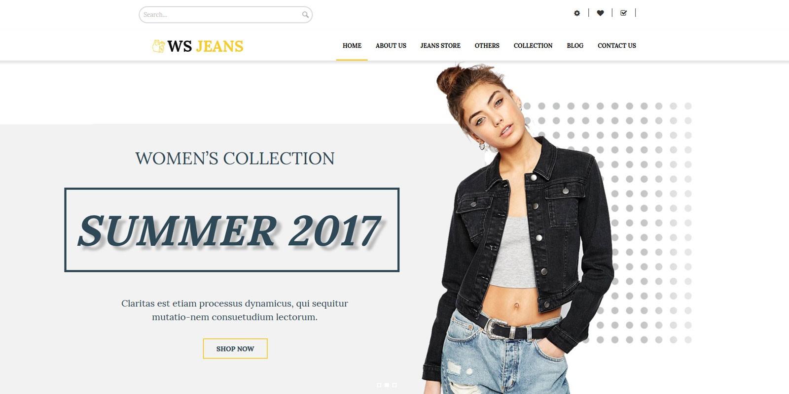 WS Jeans - WordPress Theme