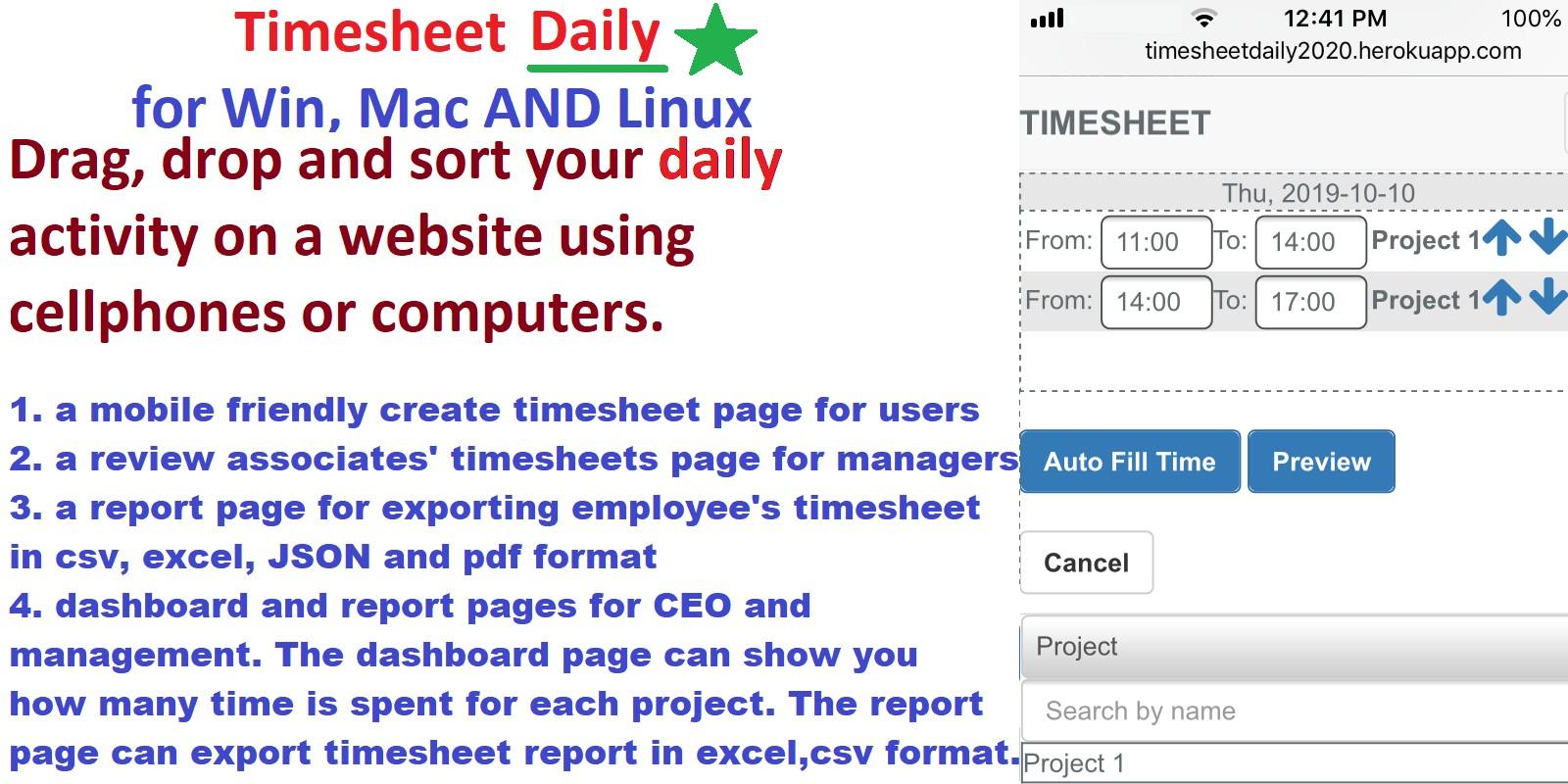 Timesheet PHP Script