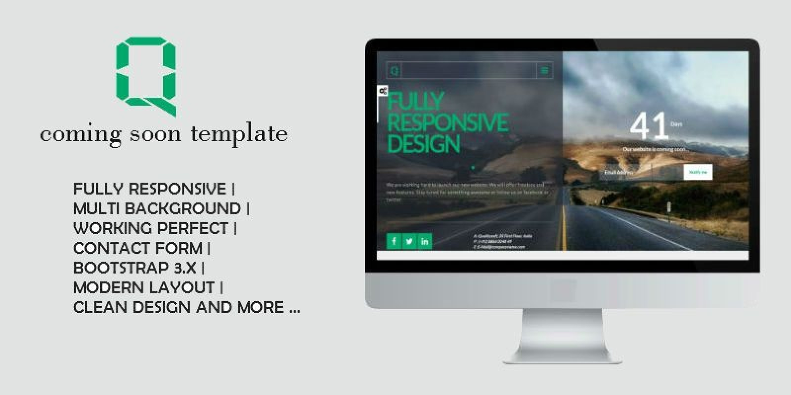Quality Coming Soon HTML Template