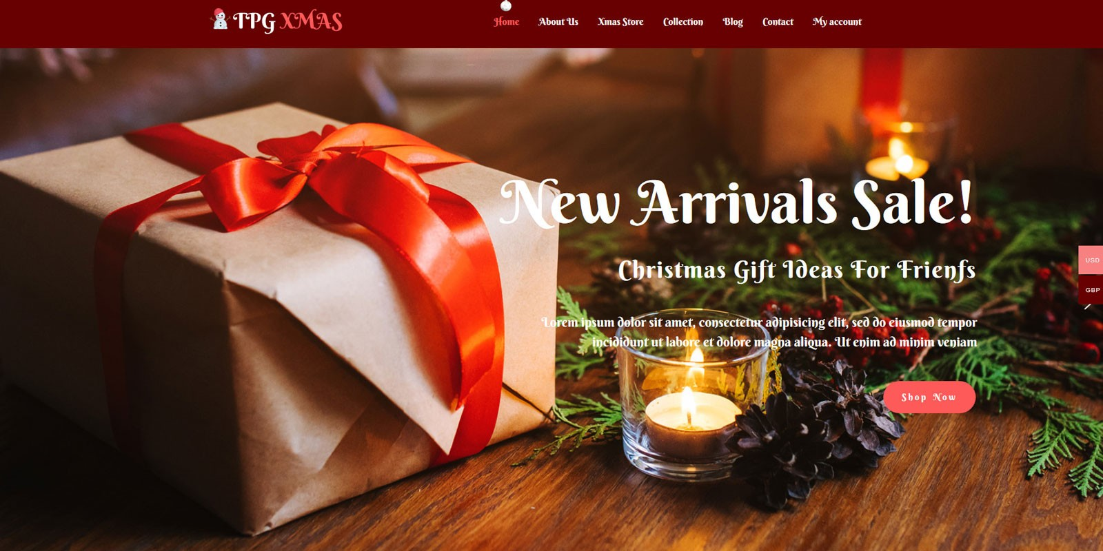 TPG Xmas  WordPress Christmas Theme