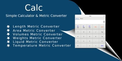 Calc -  Simple Calculator With Metric Converter