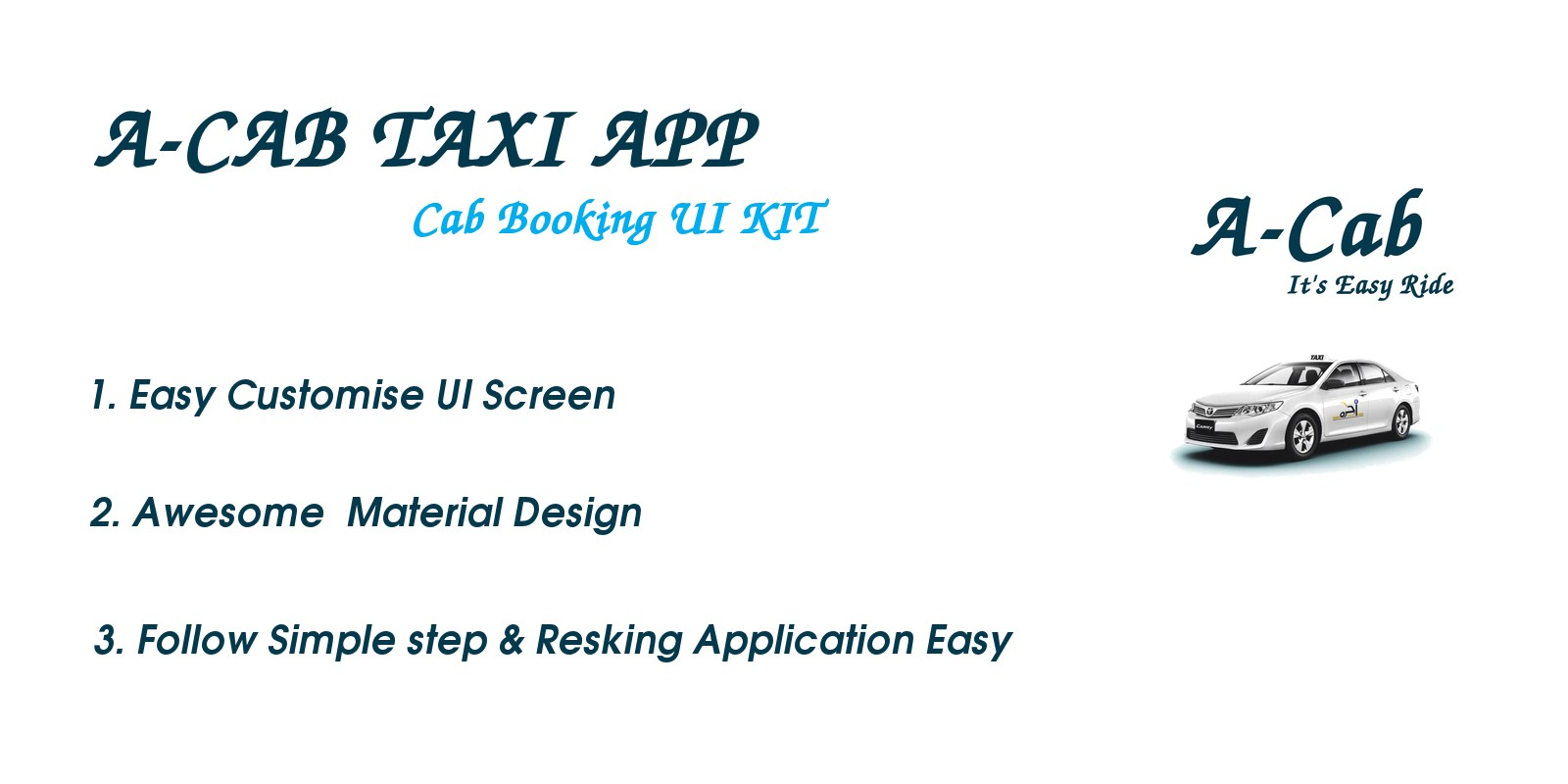 A-Cab Taxi - Android Studio UI Kit