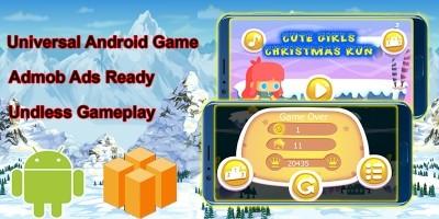 Cute Girl Christmas Buildbox Template