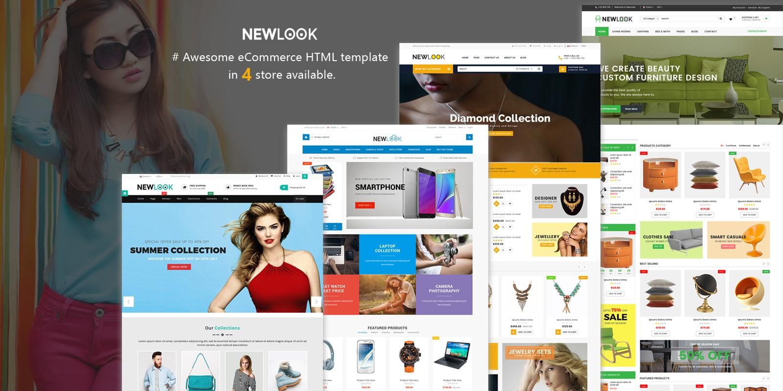 NewLook - Multipurpose E-Commerce HTML Template