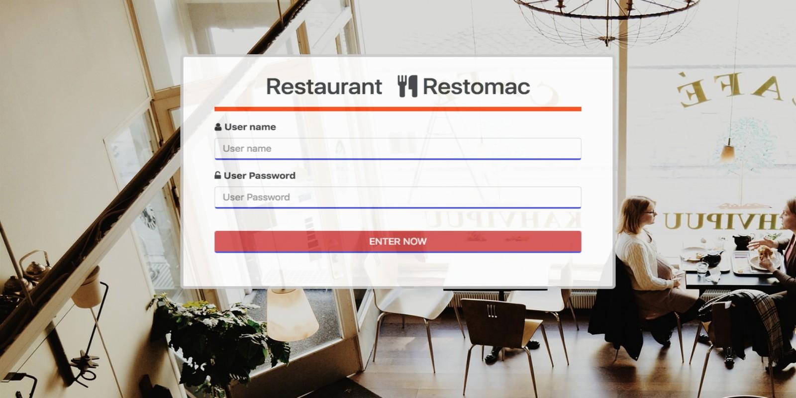 Restomac - Restaurant Reservation System PHP